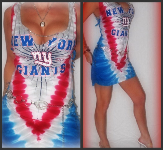 5c8faf8a CUSTOM NY GIANTS TIE DYE TANK DRESS