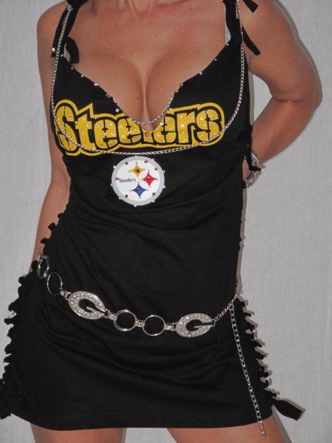 Custom Nfl Football T Shirt Dress Pittsburgh Steelers