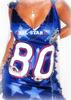 CUSTOM NFL NY GIANTS FOOTBALL JERSEY DRESS   SWAROVSKI