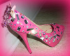 CUSTOM HELLO KITTY SWAROVSKI/ACRYLIC/MIRRORED SHOE