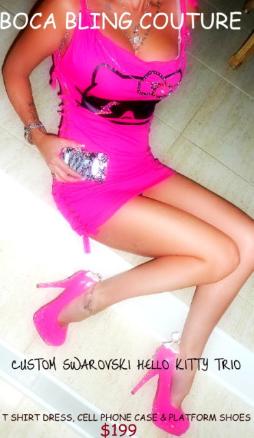 CUSTOM HELLO KITTY T SHIRT/DRESS , CELL PHONE CASE AND SHOES!