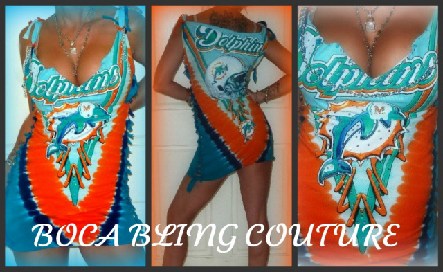 new arrival 4c250 62a5c CUSTOM MIAMI DOLPHINS TIE DYE T SHIRT DRESS