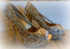 CUSTOM GOLD GLITTER /MIRRORED PLATFORMS